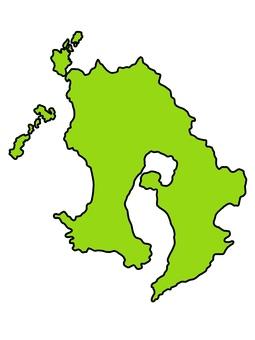 鹿兒島縣地圖與邊界顏色