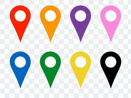 地图别针地图白色圆圈没有阴影