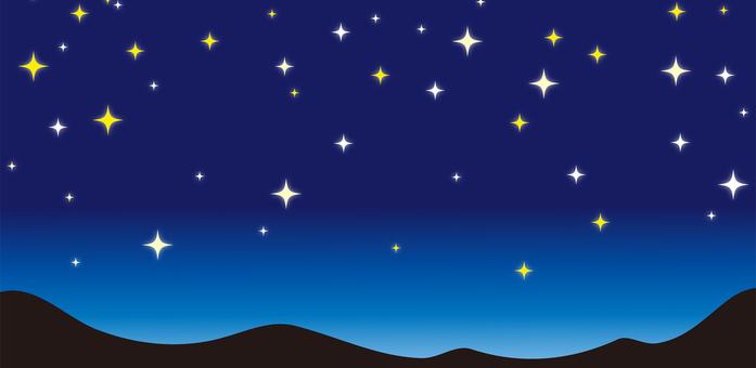 Night sky landscape material