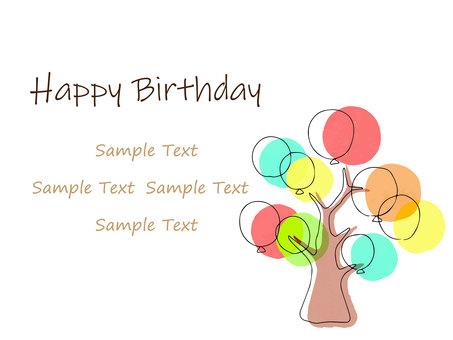 Balloon tree birthday card
