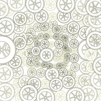 齒輪機械圖案嚙合背景回