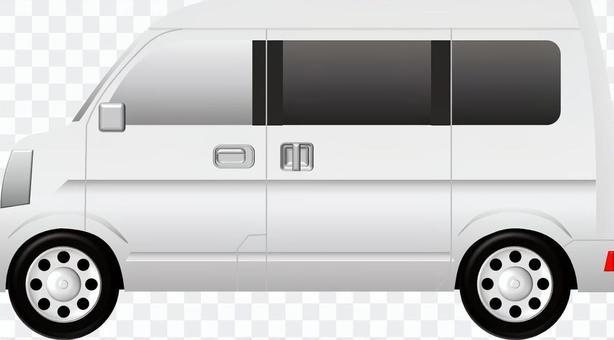 面包车(汽车)白色