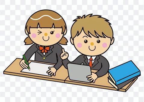 學生12_08(男女平板電腦學習)