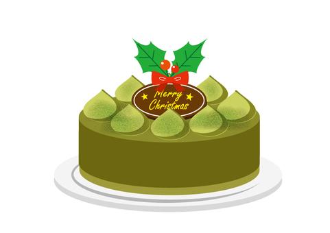 크리스마스 케이크 녹차 선없이