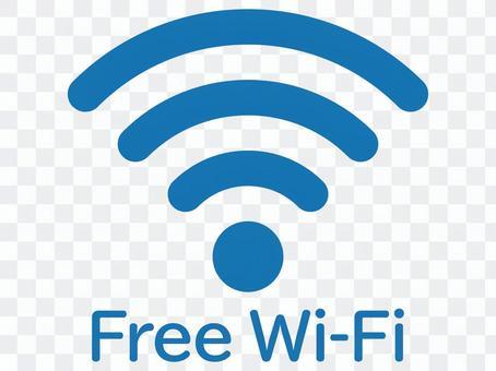 免費Wi-Fi圓形藍色