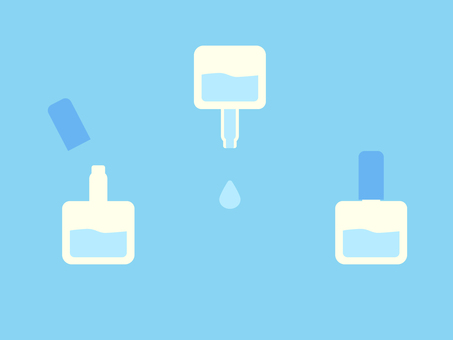 Simple and cute eye drops illustration