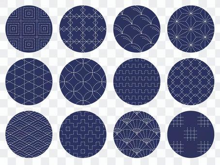 Sashimo Cross Stitch Japanese Pattern Set Traditional Pattern