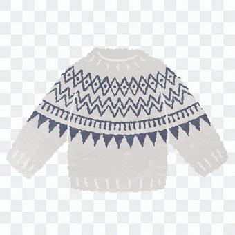 水彩風格的北歐毛衣