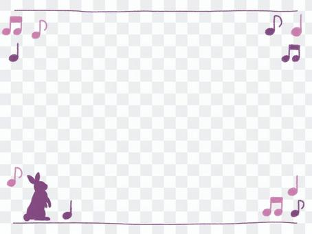 Purple Rabbit and Omp Crayon Frame