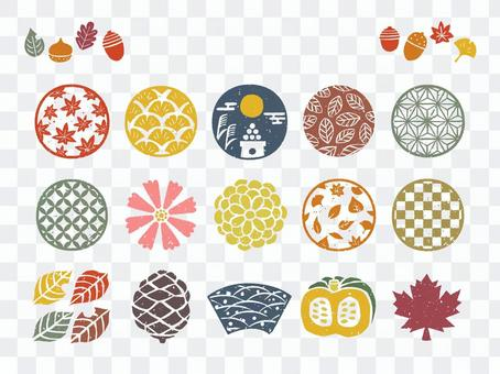 日式郵票一套秋季符號