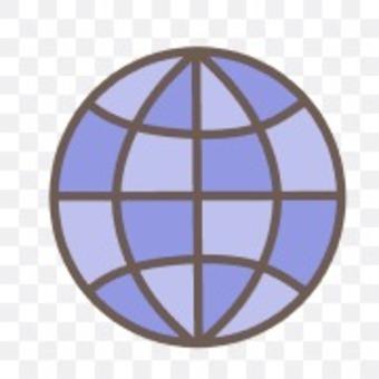鏡球 圓形球體 圓形藍色