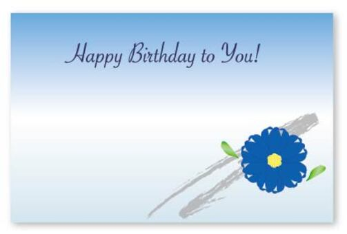 Adult floral birthday card