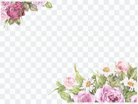 Letter background - impressive rose frame