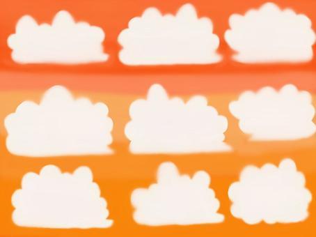 秋天的天空和雲彩