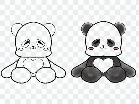 寬鬆的臉毛絨熊貓