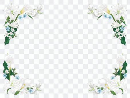 White flower frame 01
