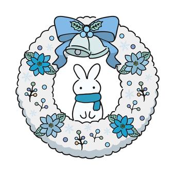聖誕花環(雪兔)