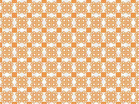 古風花紋㊿橙