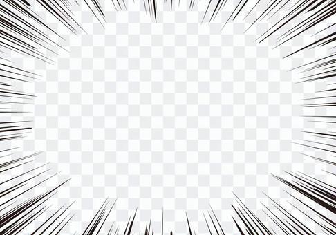 集中線(定番)線細め・空白多めver