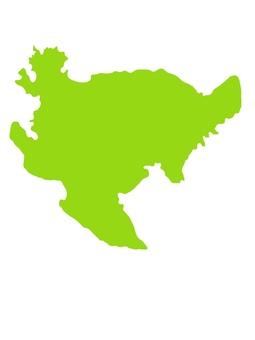 佐賀縣佐賀無邊界彩色地圖