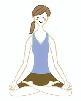 做瑜伽的婦女