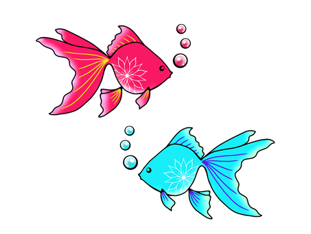 Two-color goldfish