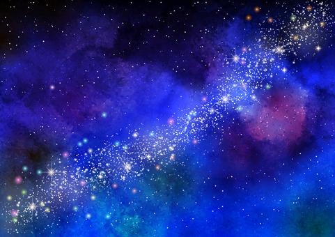 水彩銀河背景