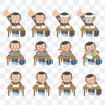 男學生學習插圖集(Shobo)