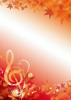 Autumn tone symbol frame vertical type
