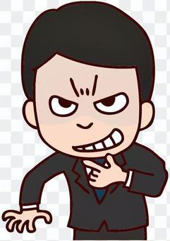 邪惡的男性的插圖