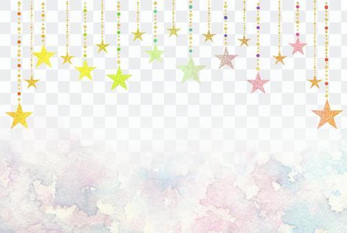 閃爍星和夜空明信片框架