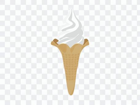 軟冰淇淋_香草味