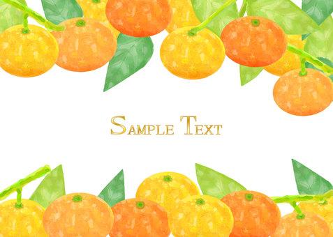 Tangerine watercolor frame Decorative frame