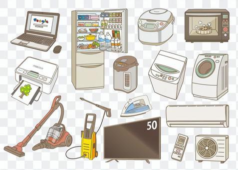 各種各樣的家用電器