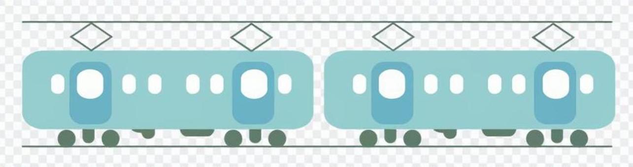 火車的例證(藍色)
