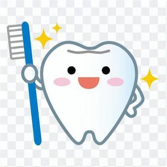 Tooth mascot (shiny)