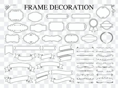 Classical frames, ribbons and decorative lines