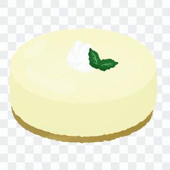 クリームののったホールレアチーズケーキ