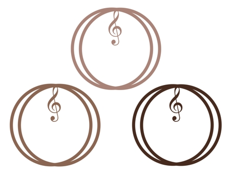 Frame with treble clef
