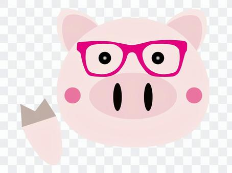 Pig, winding glasses