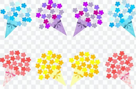 花束(橙色,粉紅色,藍色,紫色)