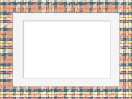 格子和白色磨砂相框1