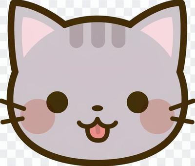 猫の顔 サバトラ