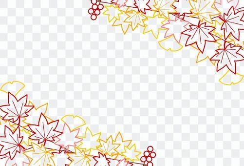 秋の紅葉ワイヤーフレーム