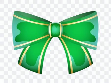 ai可愛いリボン1つ・緑色