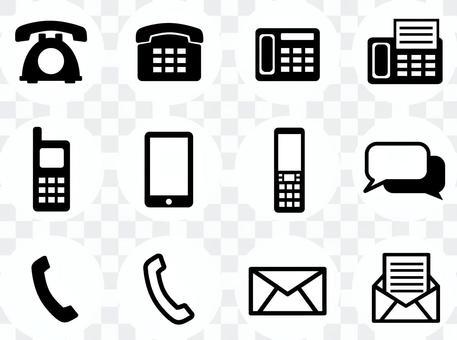 電話·郵件·留言圖標3