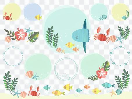 魚フレームセット