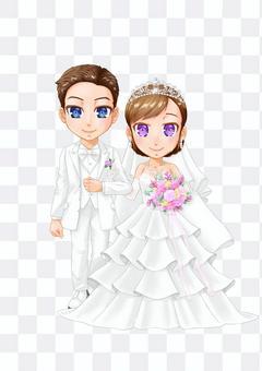 人圖婚禮夫婦