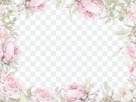 英語玫瑰花框架 - 框架