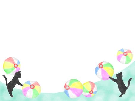 貓和紙氣球的框架